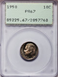 Proof Roosevelt Dimes: , 1950 10C PR67 PCGS. PCGS Population (239/4). NGC Census: (249/50).Mintage: 51,386. Numismedia Wsl. Price for problem free ...