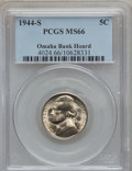 Jefferson Nickels, 1944-S 5C Set Of Three Jefferson Nickels MS66 PCGS. This SetIncludes (2) 1944-S 5C MS66 PCGS Ex;Omaha Bank Hoard,1944-S 5C...(Total: 3 coins)