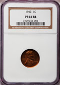 Proof Lincoln Cents, 1942 1C PR 64 Red and Brown NGC and 1942 1C PR 64 Red and BrownANACS ... (Total: 2 coins)