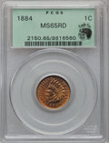 Indian Cents, 1884 1C MS65 Red PCGS....