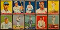 Baseball Cards:Lots, 1933 & 1934 Goudey Baseball Hall of Famers Collection (10). ...