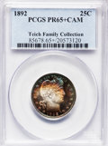 Proof Barber Quarters, 1892 25C PR65+ Cameo PCGS....