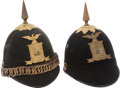 Military & Patriotic:Indian Wars, Two Model 1881 New York National Guard Spike Helmets.... (Total: 2 Items)