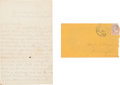 Miscellaneous:Ephemera, Union Soldier's Autograph Letter Signed....