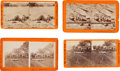 Photography:Stereo Cards, Scarce Group Of Four Stereo Views Of Civil War Dead.... (Total: 4Items)