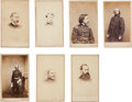 Photography:Cabinet Photos, Group of Portraits Of Seven Generals.... (Total: 7 Items)