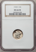 Mercury Dimes: , 1938-S 10C MS66 Full Bands NGC. NGC Census: (183/70). PCGSPopulation (344/117). Mintage: 8,090,000. Numismedia Wsl. Price ...