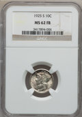 Mercury Dimes: , 1925-S 10C MS62 Full Bands NGC. NGC Census: (7/111). PCGSPopulation (21/266). Mintage: 5,850,000. Numismedia Wsl. Pricefo...