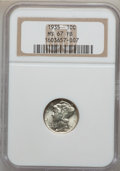 Mercury Dimes: , 1935 10C MS67 Full Bands NGC. NGC Census: (114/1). PCGS Population(228/9). Mintage: 58,830,000. Numismedia Wsl. Price for ...