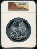 Modern Bullion Coins, 2010 25C Grand Canyon Five Ounce Silver MS69 NGC. PCGS Population(5/0). (#504968)...