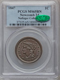 Large Cents, 1847 1C MS65 Brown PCGS. CAC. N-24, R.1....