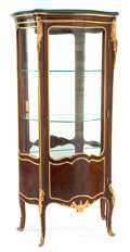 Furniture : French, A PAUL SORMANI FRENCH LOUIS XV-STYLE MAHOGANY AND GILT BRONZEVITRINE CABINET . Paul Sormani (French, 1817-1887), Paris, Fra...