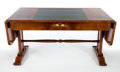 Furniture : Continental, AN AUSTRIAN BIEDERMEIER BURL WALNUT DESK . Maker unknown, Austria,circa 1820. 31-1/4 x 62 x 37-1/2 inches (79.4 x 157.5 x 9...
