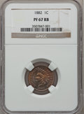 Proof Indian Cents, 1882 1C PR67 Red and Brown NGC....