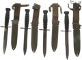 Edged Weapons:Bayonets, Lot of Four Rubber Handle U.S. M4 Carbine Bayonets.... (Total: 4 )