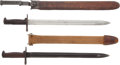 "Edged Weapons:Bayonets, Lot of Two U.S. Model 1905 Bayonets. Each with blades measuring approximately 16"" in length. Walnut handles. One example wit... (Total: 2 Items)"