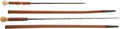 Edged Weapons:Swords, Pair of American Ivory Knob Sword Canes.... (Total: 2 Items)