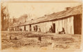 "Photography:CDVs, Very Rare Carte-De-Visite View of ""64th US Colored Inf. Quarters / 1864 at Palmyra Bend, Miss.""..."