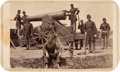 "Photography:CDVs, Scarce Brady Carte-De-Visite ""View in Fort Corcoran"" With Siege Gun And Gun Crew...."