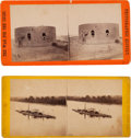 Photography:Stereo Cards, Two Civil War Ironclad Stereo Views - One Brady, One John Taylor... (Total: 2 Items)