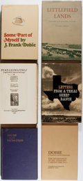 Books:Americana & American History, [Texana]. Group of Six First Edition Books. Various, 1924-1981. Allin very good or better condition.... (Total: 6 Items)
