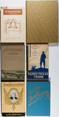 Books:Americana & American History, [Texana]. Group of Six First Edition Books. Various, 1936-1971. Allin very good or better condition.... (Total: 6 Items)
