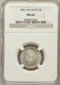 Liberty Nickels: , 1883 5C No Cents MS64 NGC. NGC Census: (2202/2353). PCGS Population(3107/1736). Mintage: 5,479,519. Numismedia Wsl. Price ...