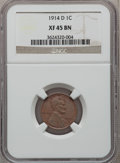 Lincoln Cents, 1914-D 1C XF45 NGC....