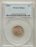 Indian Cents: , 1862 1C MS64 PCGS. PCGS Population (605/284). NGC Census:(1020/426). Mintage: 28,075,000. Numismedia Wsl. Price forproble...