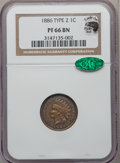 Proof Indian Cents, 1886 1C Type One PR66 Brown NGC. CAC....