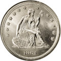 Seated Quarters: , 1863 25C MS66 NGC. A sharply struck and highly lustrous example ofthis scarce Civil War year. The mintage was 191,140 piec...