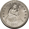 Seated Quarters: , 1884 25C MS66 NGC. Ex: Richmond Collection. The 1884 Seated quarteris among the lowest (8,000 pieces, second only to the 5...