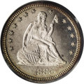 Proof Seated Quarters: , 1886 25C PR66 Cameo PCGS. Icy devices rise above decisivelymirrored fields. A crisply struck and lightly toned Premium Gem...