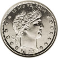 Barber Quarters: , 1896-S 25C MS62 Prooflike NGC. This is the first of the well-knowntroika of Barber quarter key dates, here in superlative ...