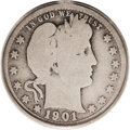 Barber Quarters: , 1901-S 25C Good 4 PCGS. This is a lovely example for the grade withlight gray surfaces and the usual insignificant abrasio...