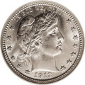 Barber Quarters: , 1912-S 25C MS67 NGC. Both sides of this frosty Gem are fullybrilliant with no evidence of toning; the surfaces have bright...