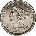 Patterns: , 1853 E1C One Cent, Judd-149, Pollock-178, High R.6, PR65 PCGS. A regular issue Liberty quarter eagle obverse die is paired ...