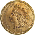 Patterns: , 1858 P1C Indian Cent, Judd-208, Pollock-259, R.1, PR65 PCGS.Snow-PT28. Die Pair 1. The Indian Head cent as adopted in 1859...