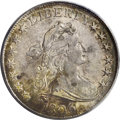 Early Half Dollars: , 1806 50C Pointed 6, No Stem AU50 PCGS. O-109, R.1. This is the mostcommon 1806 variety and arguably the most plentiful var...