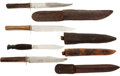 Edged Weapons:Knives, Group Of Four Bowie Knives, Circa 1860-1870. ... (Total: 4 )