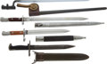 Edged Weapons:Bayonets, Lot of Four Bayonets....