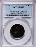 Proof Seated Quarters, 1859 25C PR63 PCGS....
