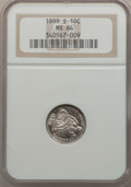 Seated Dimes, 1889-S 10C MS64 NGC....
