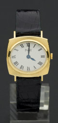 Timepieces:Wristwatch, Piaget Lady's Gold Wristwatch. ...