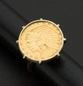 Estate Jewelry:Coin Jewelry and Suites, Indian Half Eagle Gold Coin Ring. ...