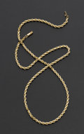 Estate Jewelry:Other , 14k Gold Rope Chain. ...