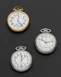 Timepieces:Pocket (post 1900), Elgin Father Time Waltham Premier Waltham Riverside All 21 JewelsAll Runners. ... (Total: 3 Items)