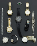 Timepieces:Other , A Lot Of Nine Wristwatches & Pin & Bracelet. ... (Total: 11Items)