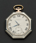Timepieces:Pocket (post 1900), Tiffany & Co. Sterling & Gold Pocket Watch. ...