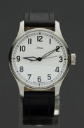 "Timepieces:Wristwatch, Stowa Ref. 2 Steel ""Automatik"" Gent's Wristwatch. ..."